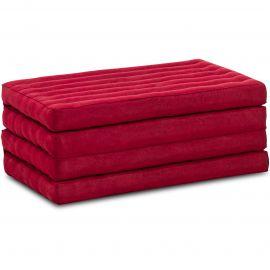 Kapok Faltmatratze, Klappmatratze,  rot, einfarbig