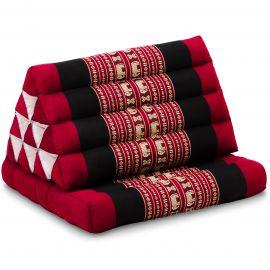 Kapok Thaikissen, Dreieckskissen mit 1 Auflage, rot/Elefanten