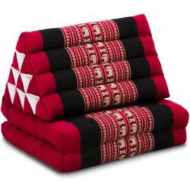 Kapok Thaikissen, Dreieckskissen, rot/Elefant, 2 Auflagen