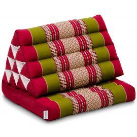 Kapok Thaikissen, Dreieckskissen mit 1 Auflage, rot/grün