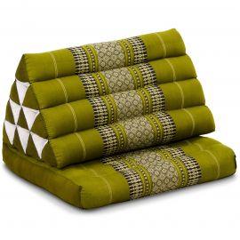 Kapok Thaikissen, Dreieckskissen mit 1 Auflage, grün