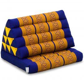 Kapok Thaikissen, Dreieckskissen mit 1 Auflage, blau-gelb