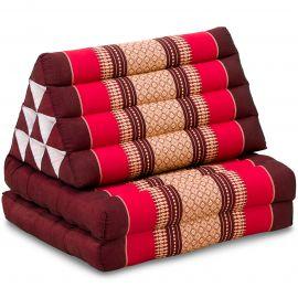 Kapok Thaikissen, Dreieckskissen, rubinrot, 2 Auflagen