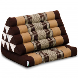 Kapok Thaikissen, Dreieckskissen mit 1 Auflage, braun
