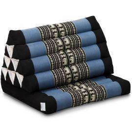 Kapok Thaikissen, Dreieckskissen mit 1 Auflage, blau/Elefanten
