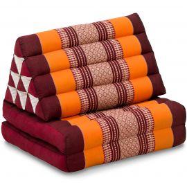 Kapok Thaikissen, Dreieckskissen, orange, 2 Auflagen