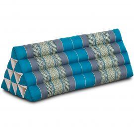 Kapok Dreieckskissen, Thaikissen, Rückenlehne extrabreit, hellblau