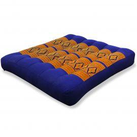 Kapok Thaikissen, Sitzkissen, Gr. M, blau / gelb