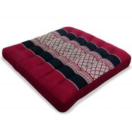 Kapok Thaikssen, Sitzkissen, Gr. M, rot / schwarz