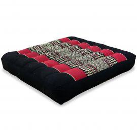 Kapok Thaikissen, Sitzkissen, Gr. M, schwarz/rot