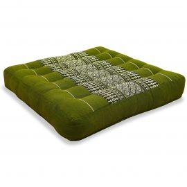 Kapok Thaikissen, Sitzkissen, Gr. M, grün