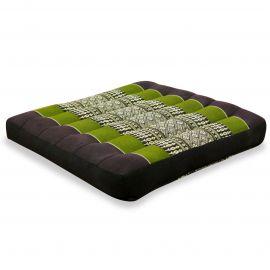 Kapok Thaikissen, Sitzkissen, Gr. M,  braun / grün
