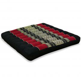 Kapok Thaikissen, Sitzkissen, Gr. L, schwarz / rot