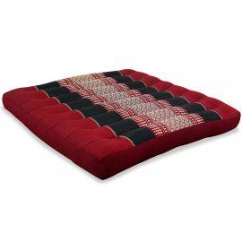 Kapok Thaikissen, Sitzkissen, Gr. L, rot / schwarz
