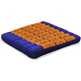 Kapok Thaikissen, Sitzkissen, Gr. L, blau / gelb