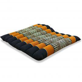 Kapok Thaikissen, Steppkissen, Gr. M, schwarz / orange