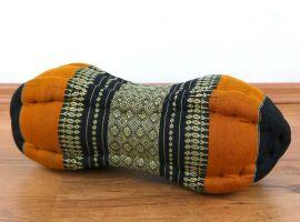 Papaya Nackenkissen, Thaikissen, schwarz/orange