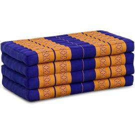 Kapok Faltmatratze, Klappmatratze, blau/gelb