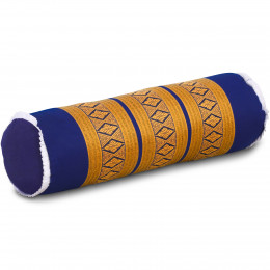 Kapok Nackenrolle, blau / gelb