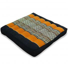Kapok Thaikissen, Sitzkissen, Gr. M, schwarz / orange