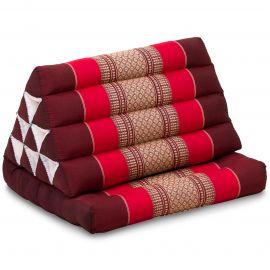 Kapok Thaikissen, Dreieckskissen mit 1 Auflage, rubinrot