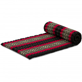 Kapok Rollmatte, Gr. M, schwarz / Elefanten