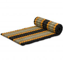 Kapok Rollmatte, Gr. M, schwarz/orange
