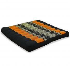 Kapok Thaikissen, Sitzkissen, Gr. L, schwarz / orange