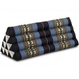 Kapok Dreieckskissen, Thaikissen, Rückenlehne extrabreit, blau/Elefant