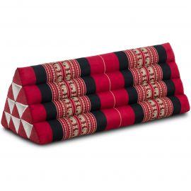 Kapok Dreieckskissen, Thaikissen, Rückenlehne extrabreit, rot/Elefant