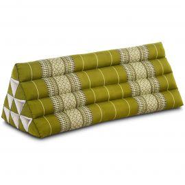 Kapok Dreieckskissen, Thaikissen, Rückenlehne extrabreit, grün