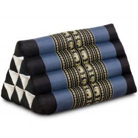 Kapok Dreieckskissen, Thaikissen, Rückenlehne, blau/Elefant