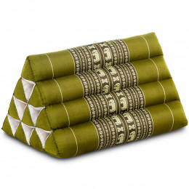 Kapok Dreieckskissen, Thaikissen, Rückenlehne, grün/Elefant