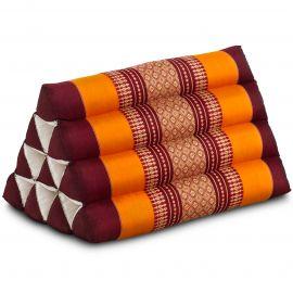 Kapok Dreieckskissen, Thaikissen, Rückenlehne, orange