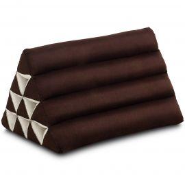Kapok Dreieckskissen, Thaikissen, Rückenlehne, braun einfarbig