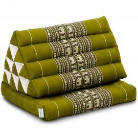 Kapok Thaikissen, Dreieckskissen mit 1 Auflage, grün/Elefanten