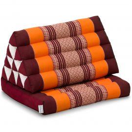 Kapok Thaikissen, Dreieckskissen mit 1 Auflage, orange