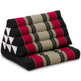 Kapok Thaikissen, Dreieckskissen mit 1 Auflage, schwarz/rot
