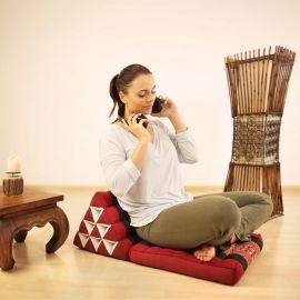 Kapok Thaikissen, Dreieckskissen mit 1 Auflage, schwarz / orange