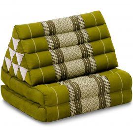 Kapok Thaikissen, Dreieckskissen, grün, 2 Auflagen