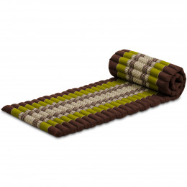 Kapok Rollmatte, Gr. S, braun / grün