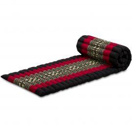 Kapok Rollmatte, Gr. S, schwarz / Elefanten