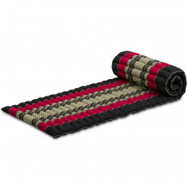 Kapok Rollmatte, Gr. S, schwarz / rot