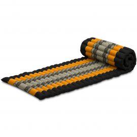 Kapok Rollmatte, Gr. S, schwarz / orange