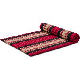 Kapok Rollmatte, Gr. L, rot / schwarz