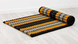 Kapok Rollmatte, Gr. L, schwarz / orange