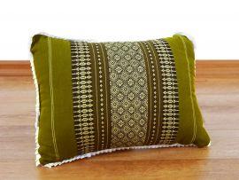 kleines Kapok-Kissen Dekokissen grün, 22 cm x 33 cm x 13 cm