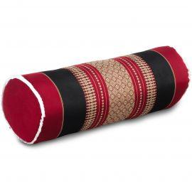 Kapok Nackenrolle, rot/ schwarz