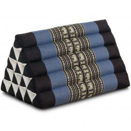Kapok Dreieckskissen, Thaikissen, Rückenlehne extrahoch, blau/Elefant
