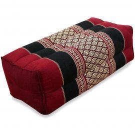 Stützkissen, Yogakissen, rot / schwarz
